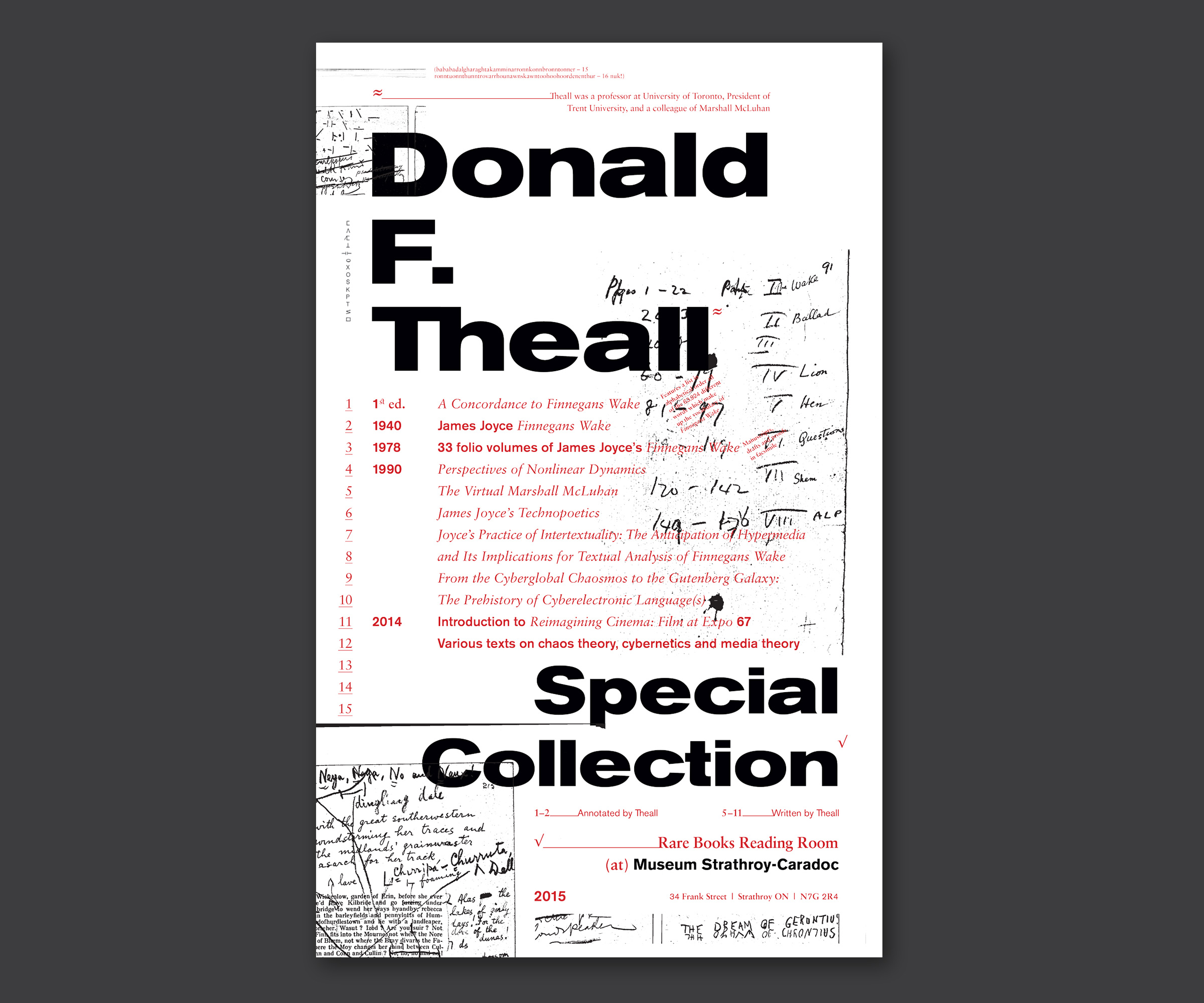 Strathroy Museum, Poster Series, Donald F. Theall Collection, 2014